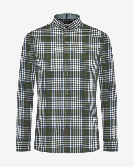 Slim fit large check shirt