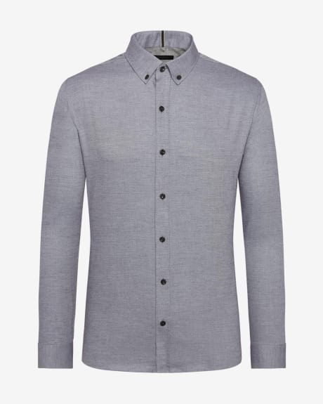 Tailored Fit Basket Weave Shirt