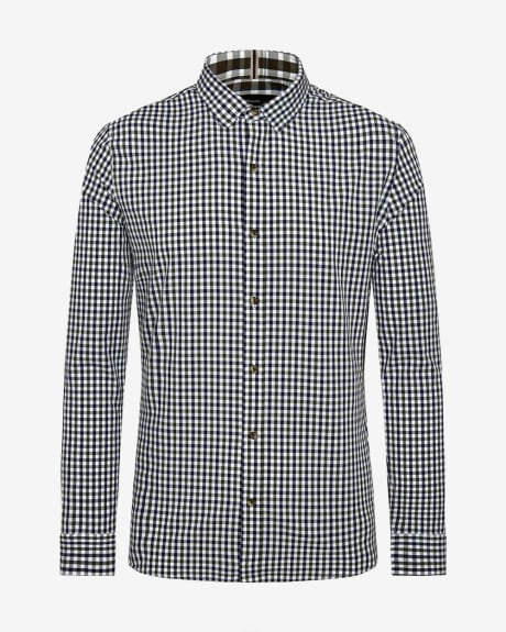 Slim Flit two-tone Vichy Shirt