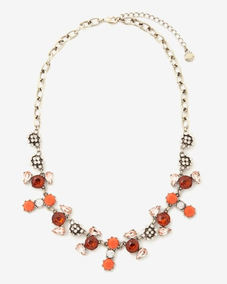 Colour block statement necklace