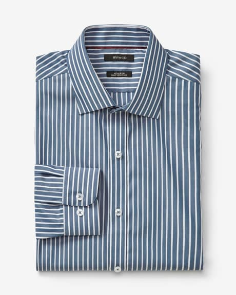 Athletic fit dress shirt with candy stripe