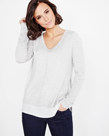 Long sleeve fooler sweater