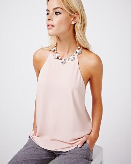 Halter woven cami.Magnet.XS