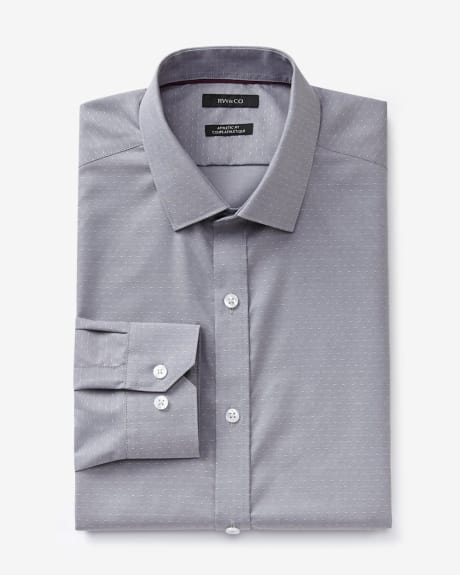 Athletic fit dress shirt with polka dots