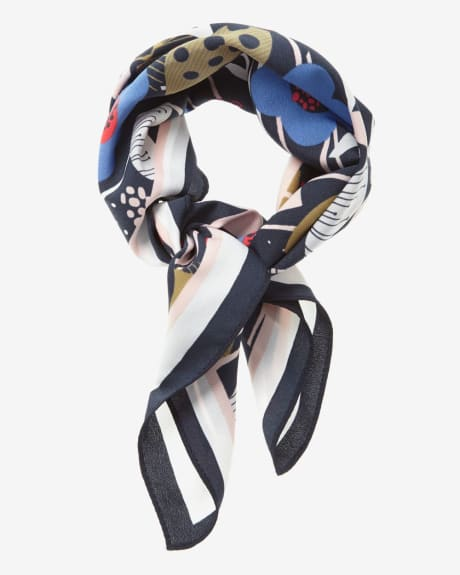 Playful print Neckerchief Scarf