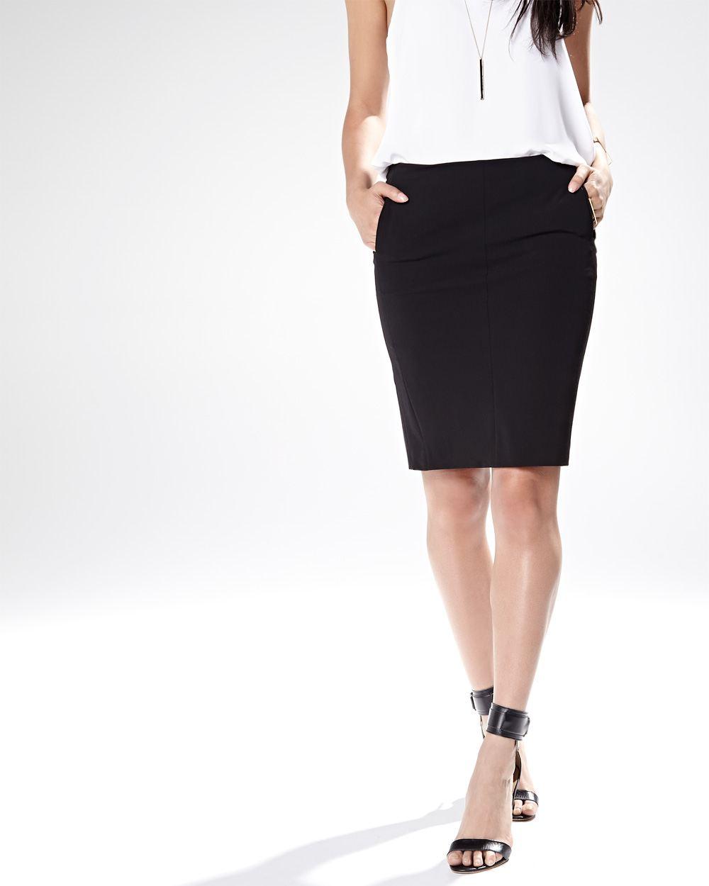 Jupe noire avec poche - Achat / Vente Jupe noire avec