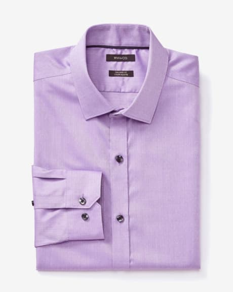 Tailored fit chintz dot dress shirt