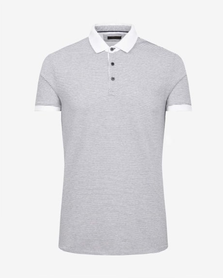 Striped Jacquard Polo T-Shirt