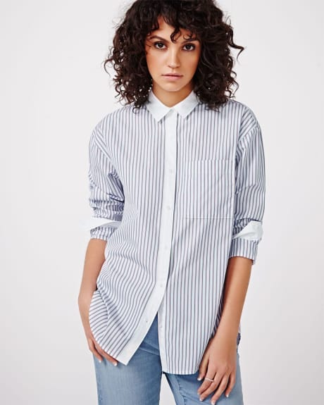 Striped Boyfriend Shirt Blouse