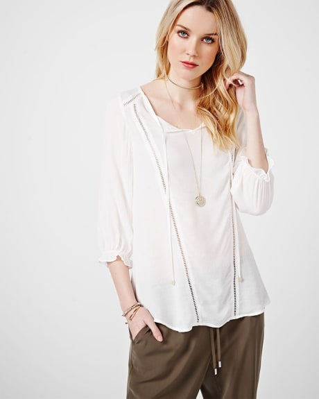 Flowy Blouse with Lace Details