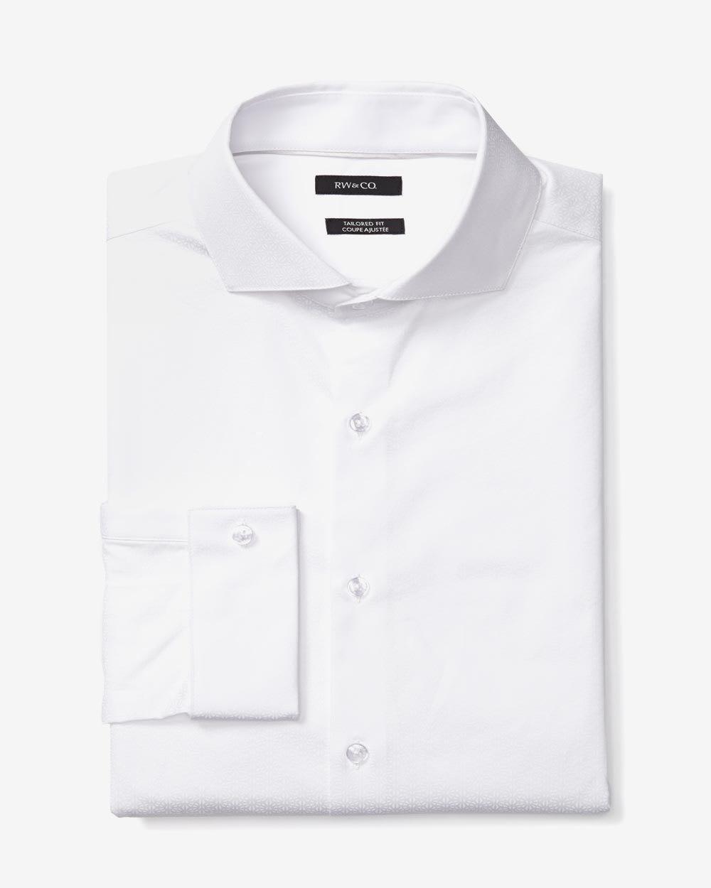 Tailored fit dress shirt tonal floral rw co for Tailoring a dress shirt