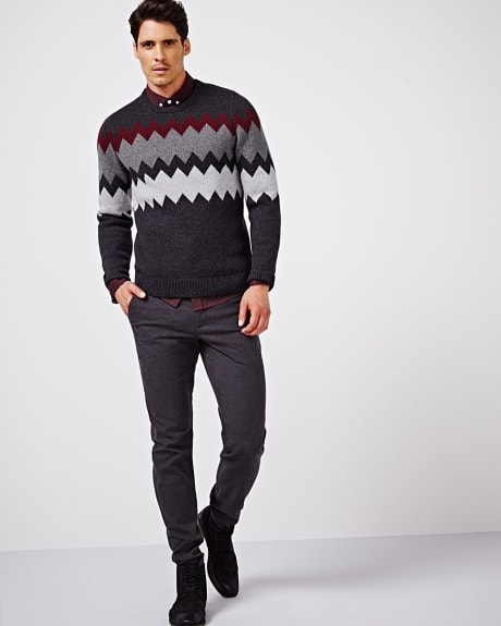 Zigzag crew neck sweater