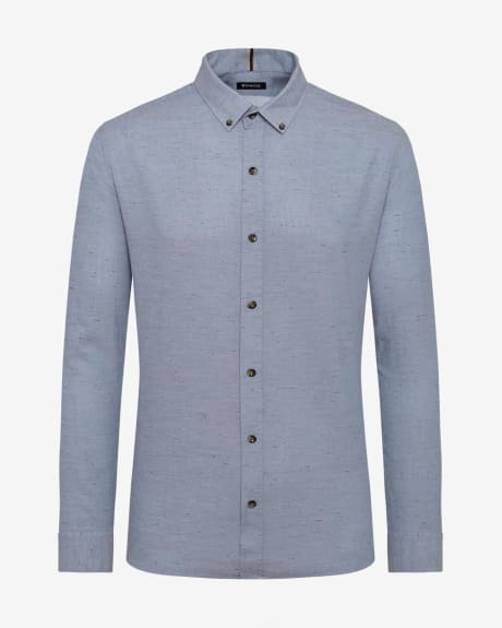 Tailored Fit chambray nep Shirt