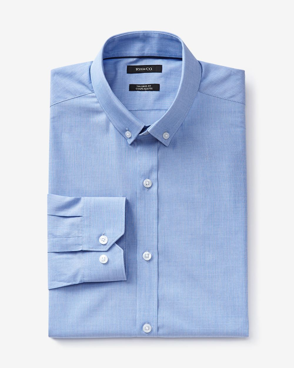 tailored fit end on end dress shirt rw co