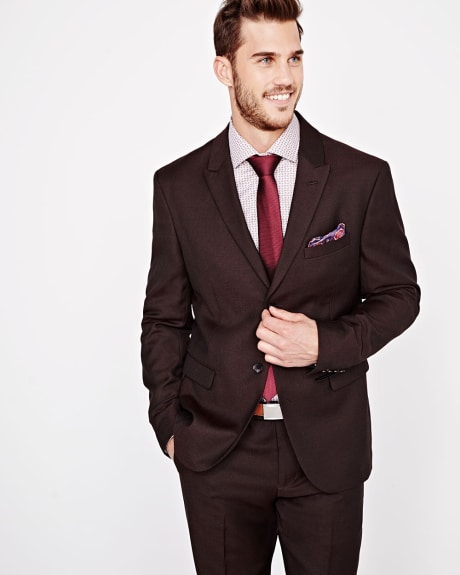 Athletic Fit textured Blazer in Fig - Tall
