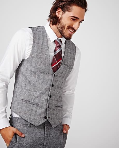 Slim fit twisted yarn suiting vest