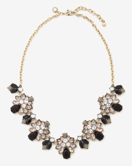 Dark Glass Statement Necklace