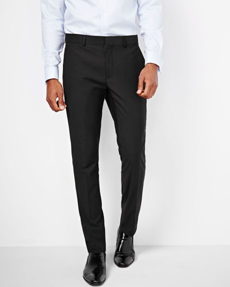 Tailored wool-blend pant in black - Short