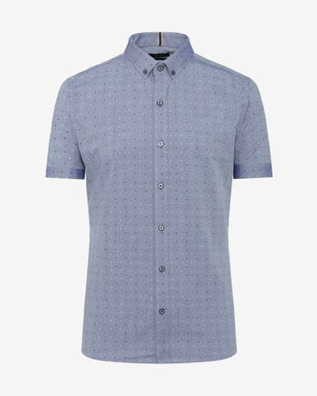 Slim Fit Oxford Short Sleeve Shirt