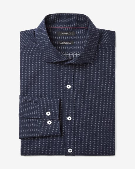 Athletic fit dress shirt in small cross motif
