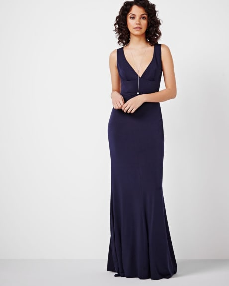 V-Neck Maxi Dress by ABS