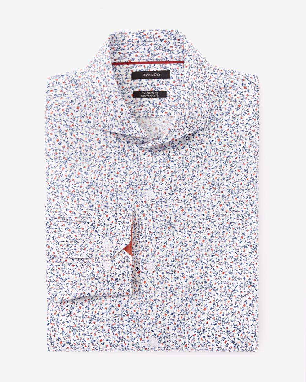 Tailored fit floral dress shirt rw co for Tailoring a dress shirt