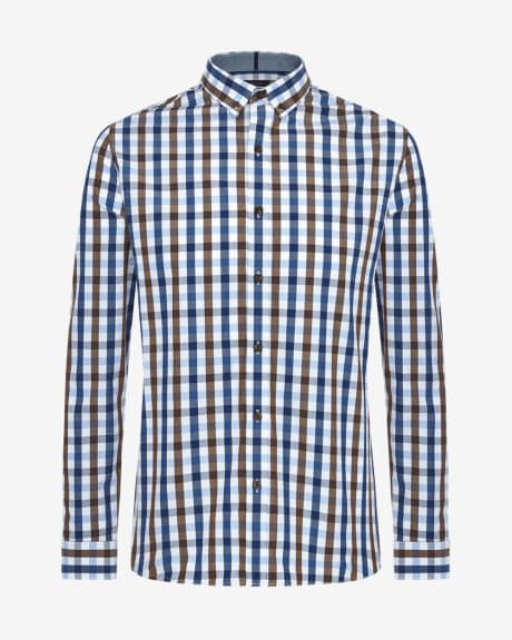 Tailored Fit Three Colour Check Shirt