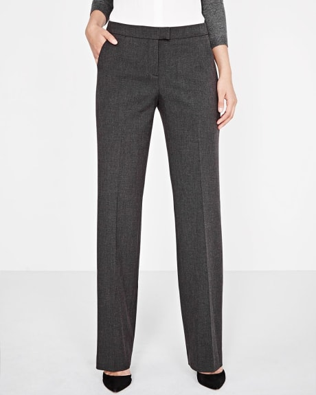 Everyday Stretch Curvy Wide Leg Pant in Charcoal grey
