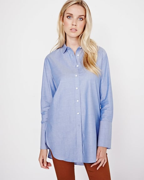 Long sleeve boyfriend blouse