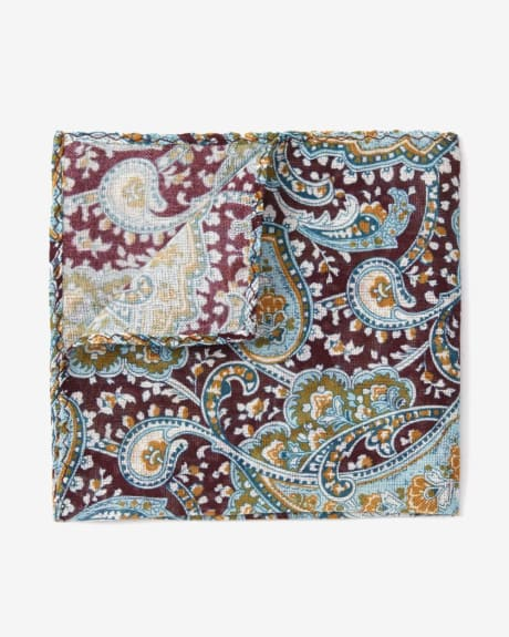 Muilticolour Paisley Pocket Square
