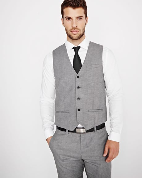 Tailored Fit salt & pepper Suiting Vest