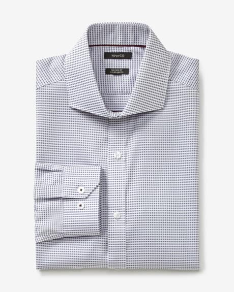 Tailored fit dress shirt with grid check