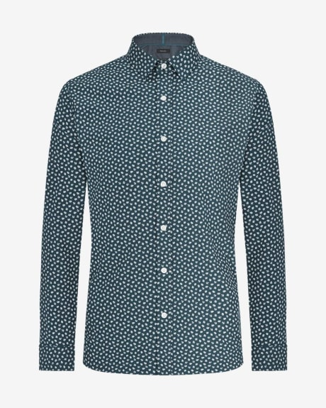 Tailored fit shirt with leaf print