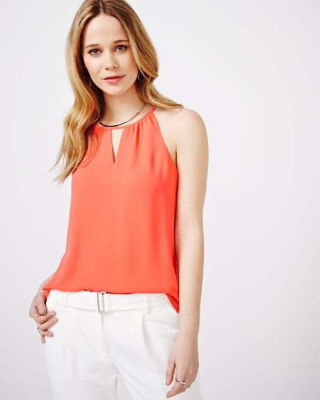 Coral Halter Cami Blouse