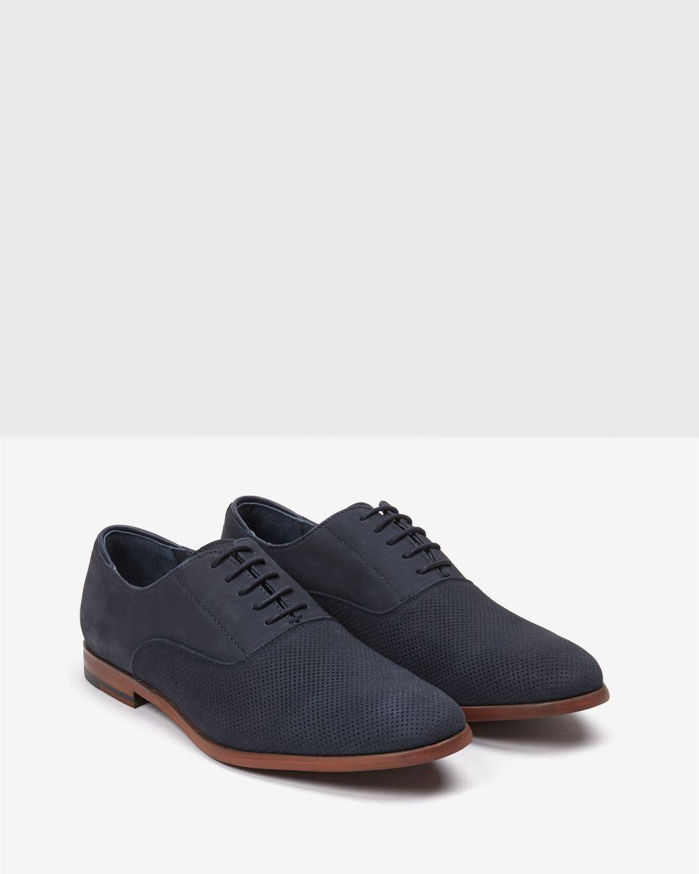 navy nubuck leather shoe rw co