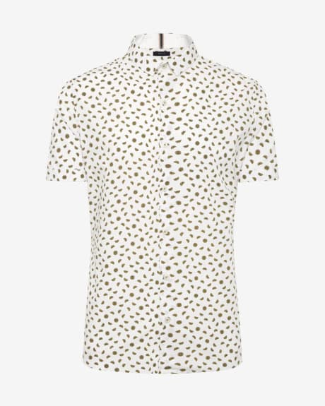 Slim Fit Lemon Print Shirt