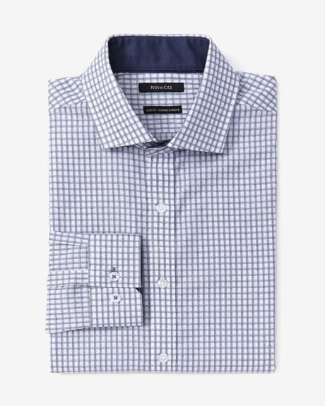 Slim fit two-tone dobby dress shirt