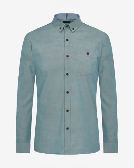 Tailored fit two-tone shirt