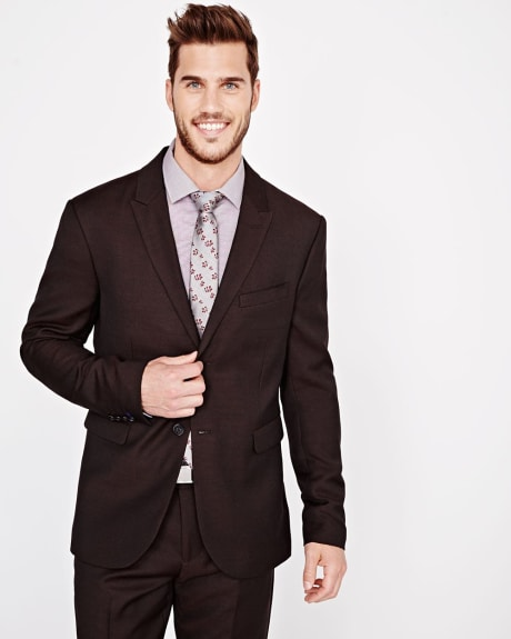 Athletic Fit textured Blazer in Fig - Regular