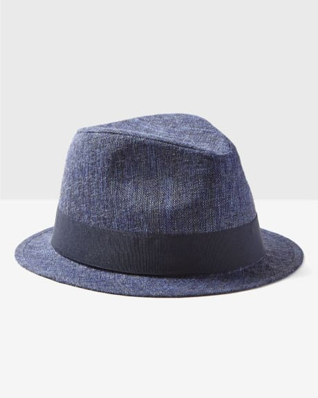 Men's Textured Fedora