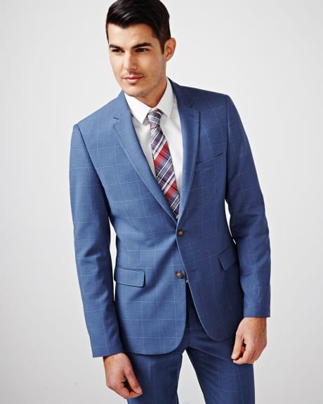 Slim Fit Windowpane Blazer - Short