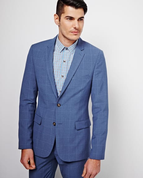Slim Fit Windowpane Blazer - Regular