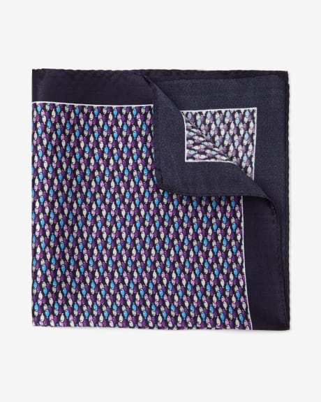 Fish Print Pocket Square