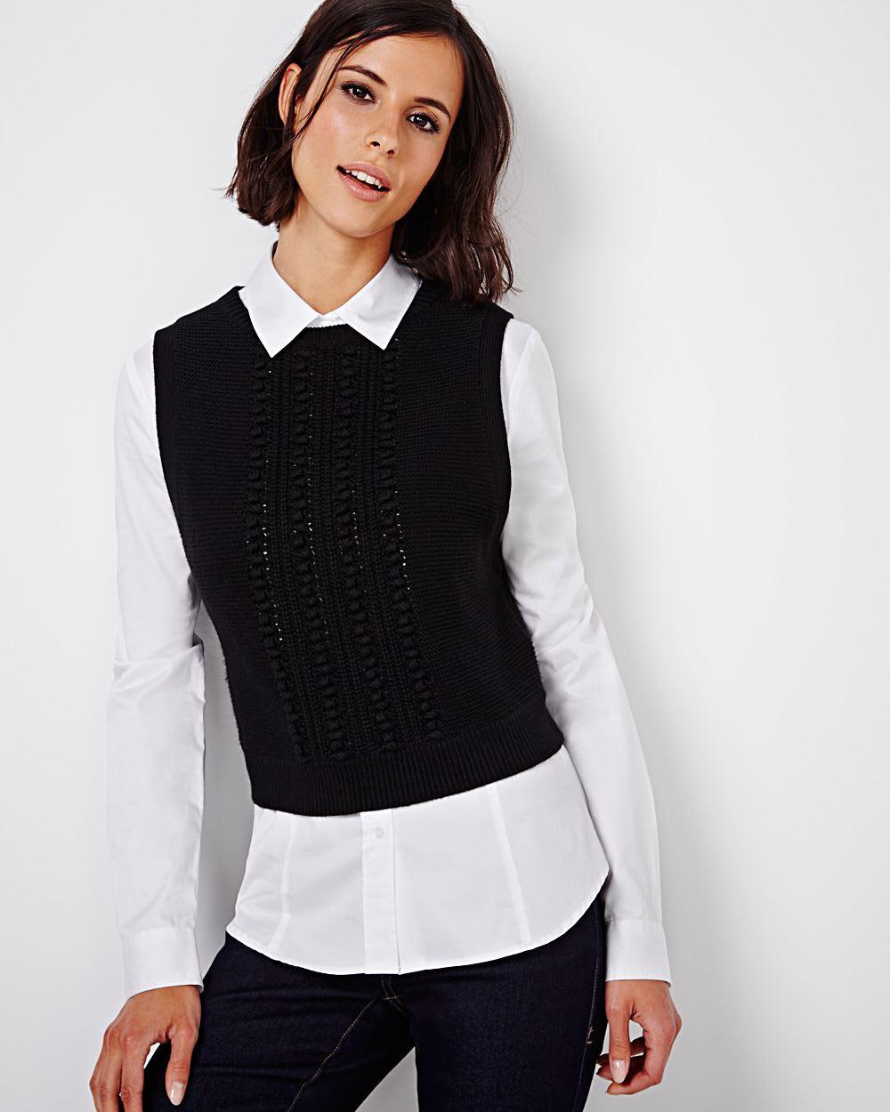 Womens Black Sweater Vest