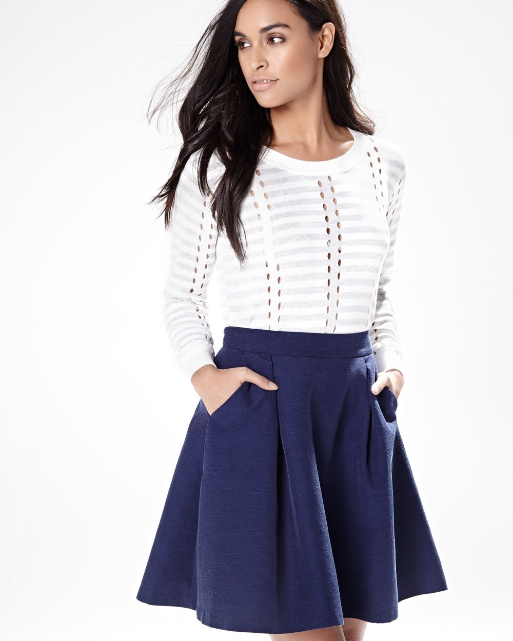 Pleated skirt with pockets | RW&CO.