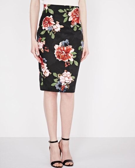 Floral Modern Chic pencil skirt