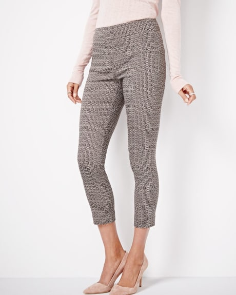 Modern Stretch Jacquard Crop Legging