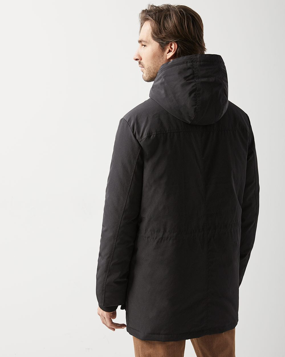 f393fd8a6 Down hooded parka jacket