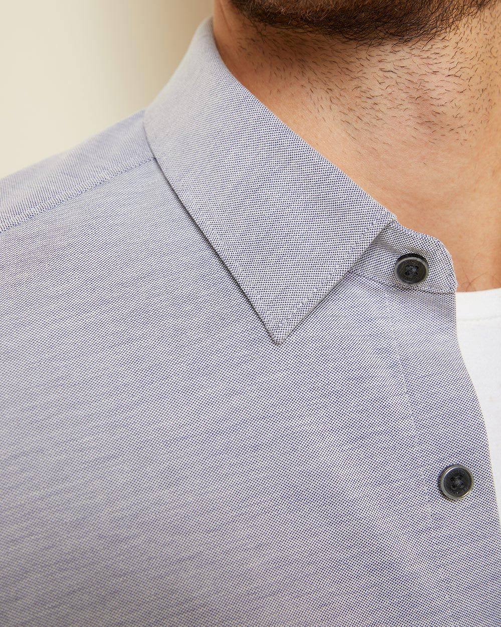 Slim Fit stretch pique shirt