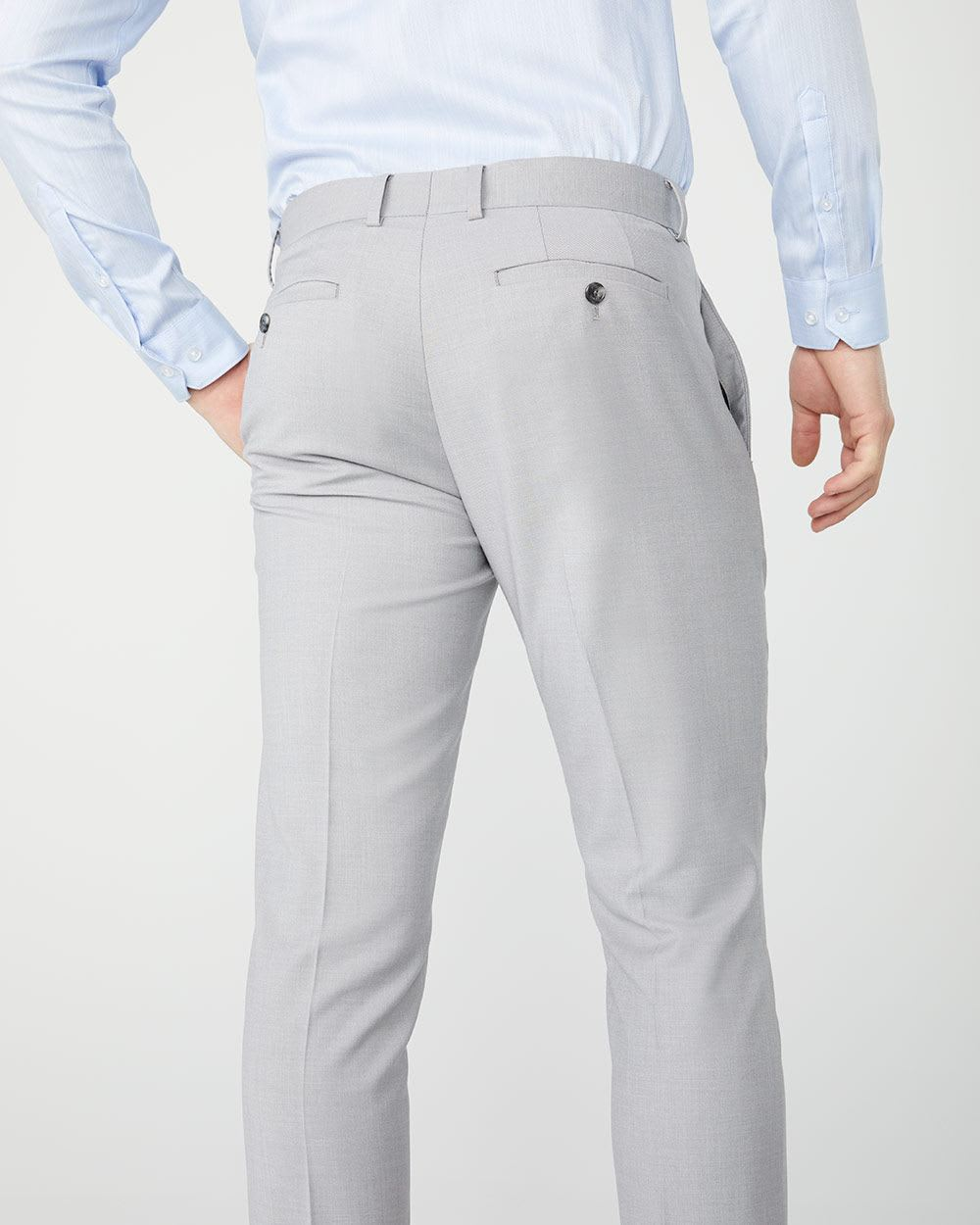 Essential Slim Fit stretch light heather grey suit Pant - 30''